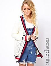 ASOS PETITE Exclusive Varsity Cardigan