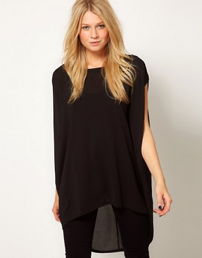 Image 1 ofASOS Tunic with Dipped Back Hem