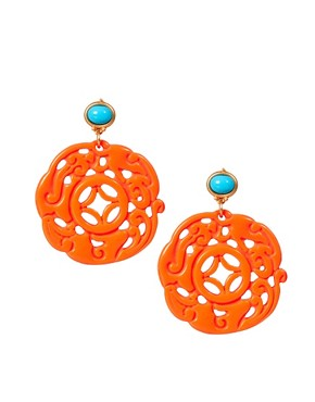 Image 1 ofKenneth Jay Lane Ornate Drop Earrings