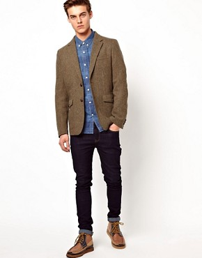 Image 4 ofSelected Herringbone Blazer