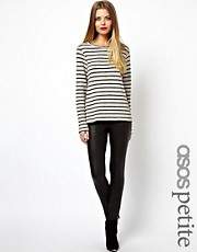ASOS PETITE Leggings In Leather Look
