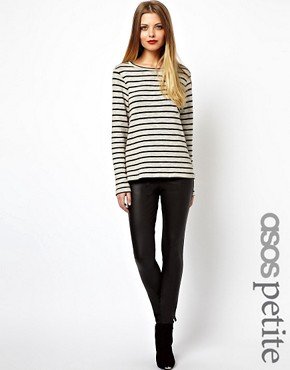 Image 1 ofASOS PETITE Leggings In Leather Look