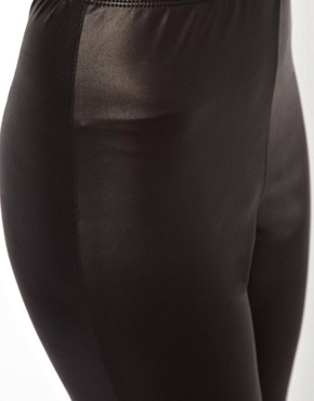 Image 3 ofASOS PETITE Leggings In Leather Look