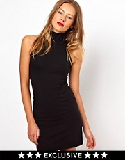 American Apparel Polo Neck Body-Conscious Dress