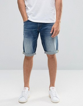 Celio Denim Shorts in Vintage Wash