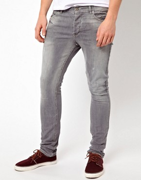 Image 1 ofASOS Super Skinny Jeans In Washed Grey