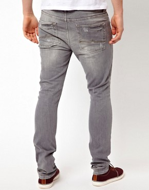 Image 2 ofASOS Super Skinny Jeans In Washed Grey