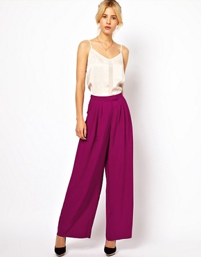 Image 1 ofASOS Trousers In Wide Leg
