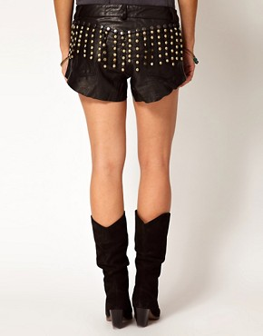 Image 2 of One Teaspoon No Control Leather Romeo Shorts