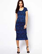 New Look Maternity Aztec Cap Sleeve Bodycon Dress