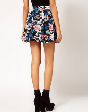 Image 2 ofMotel Eastern Floral Printed Skater Skirt