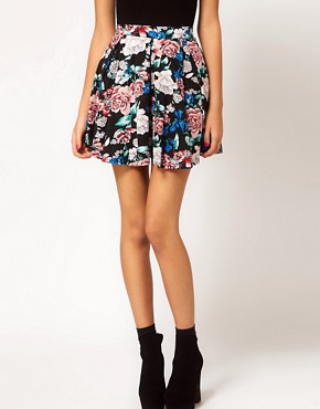Image 4 ofMotel Eastern Floral Printed Skater Skirt