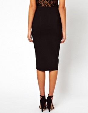 Image 2 ofASOS Pencil Skirt With Side Split