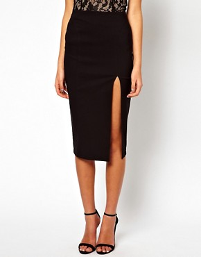 Image 4 ofASOS Pencil Skirt With Side Split
