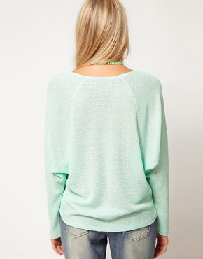 Image 2 ofASOS Top with Drop Raglan in Knit
