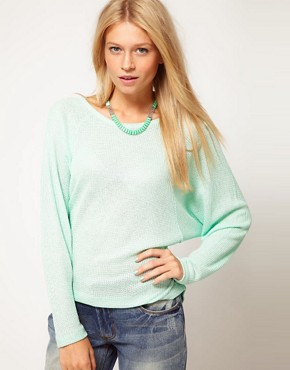 Image 1 ofASOS Top with Drop Raglan in Knit