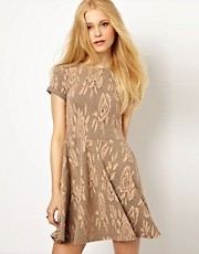 River Island Jacquard Skater Dress