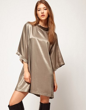 Image 1 ofKore by Sophia Kokosalaki Hammered Satin Tunic