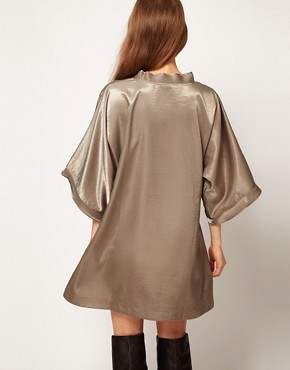 Image 2 of Kore by Sophia Kokosalaki Hammered Satin Tunic