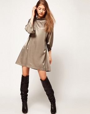 Image 4 ofKore by Sophia Kokosalaki Hammered Satin Tunic