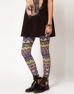 Image 4 ofASOS Leggings in Ombre Aztec Print