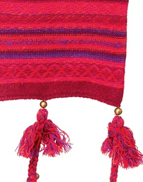Image 2 ofAlice Hannah Angora &amp; Lambswool Blend Aztec Scarf With Tassels