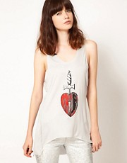 Your Eyes Lie Vest With Heart Print