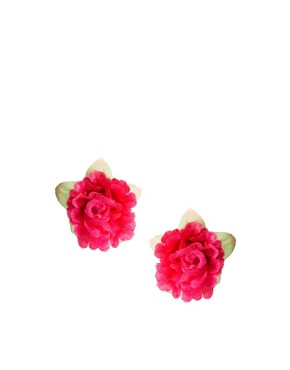 Image 1 of River Island Floral Corsage Stud Earrings