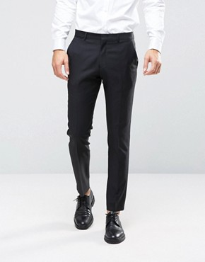 ASOS Slim Suit Trouser in Black 100% Wool