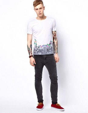 Image 4 ofASOS T-Shirt With City Print
