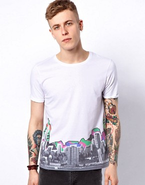 Image 1 ofASOS T-Shirt With City Print