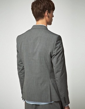 Image 2 ofASOS Slim Fit Grey Suit Jacket