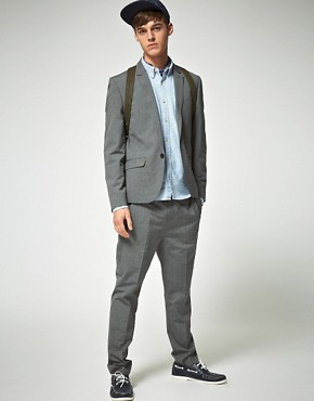 Image 4 ofASOS Slim Fit Grey Suit Jacket
