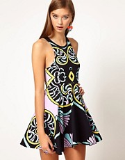 Alice McCall Jersey Printed Ice Skating Dress