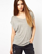 Unconditional Circle Neck Drape T-Shirt