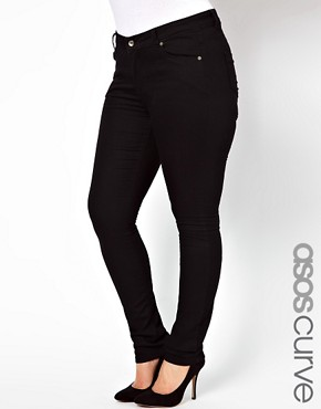 Image 1 ofASOS CURVE Exclusive Ridley Super Soft Skinny Jeans