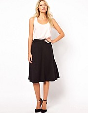 ASOS A-Line Midi Skirt in Ponte