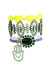 ASOS Jewel & Fabric Bracelet Multipack