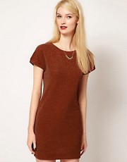 Sessun Shift Dress in Lurex Waffle Jersey