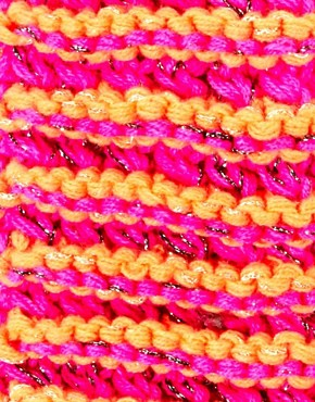 Image 2 ofASOS Fluro And Metallic Knit Mitten