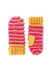 ASOS Fluro And Metallic Knit Mitten