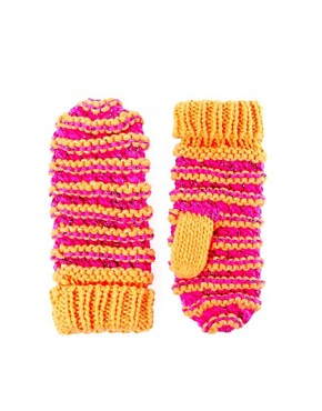 Image 1 ofASOS Fluro And Metallic Knit Mitten