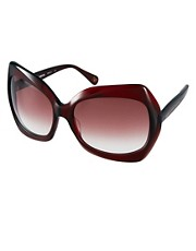 DVF Oversize Square Sunglasses