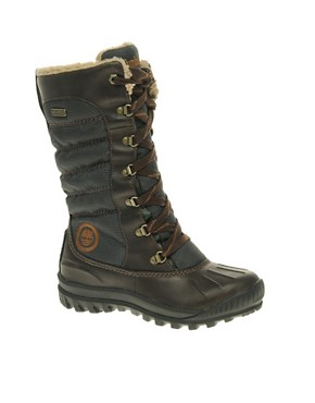 Image 1 ofTimberland Mount Holly Tall Lace Duck Flat Boots