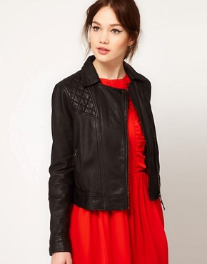 Image 1 ofBoutique By Jaeger Leather Biker Jacket