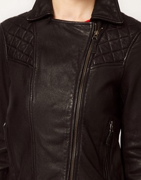 Image 3 ofBoutique By Jaeger Leather Biker Jacket