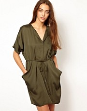 Whistles Leyla Drawstring Dress