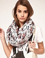 Image 1 ofASOS Skull &amp; Floral Print Snood