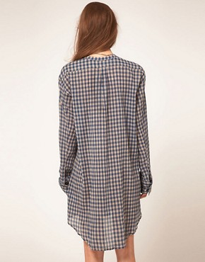 Image 2 ofZadig and Voltaire Shirt Dress in Gingham Check