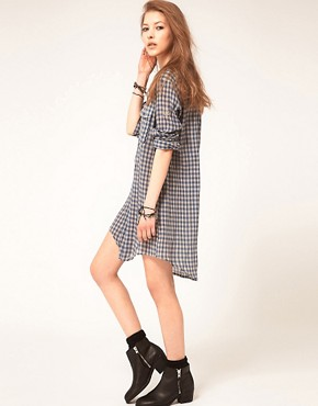 Image 4 ofZadig and Voltaire Shirt Dress in Gingham Check